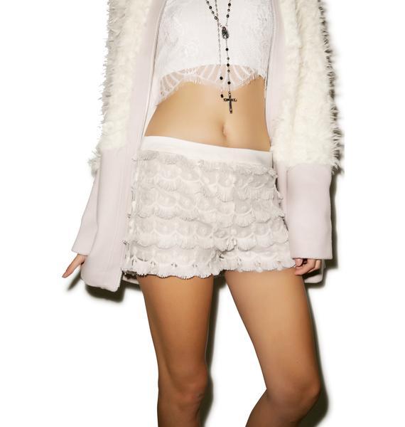 Pocket Full Of Daisys Fringe Shorts