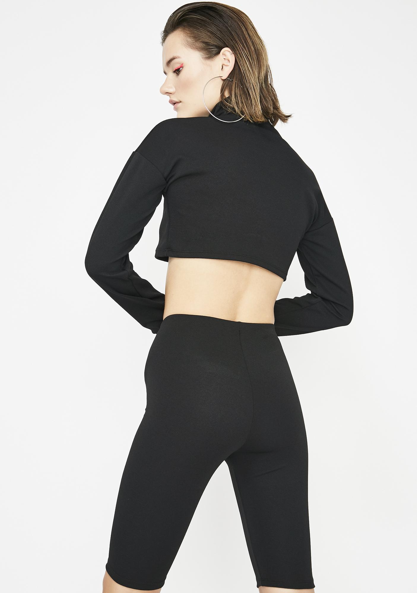 Say Less Biker Shorts Set
