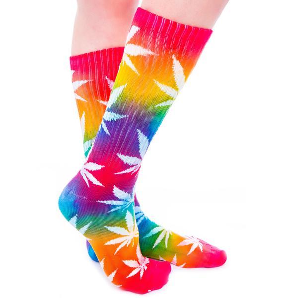 HUF Tie Dye Plantlife Sock