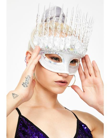 Icy Queen Costume Mask