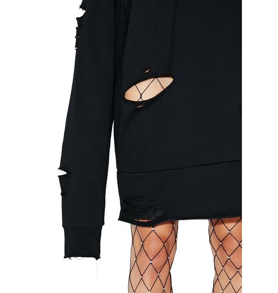 Poster Grl Fatale Flora Sweatshirt Dress