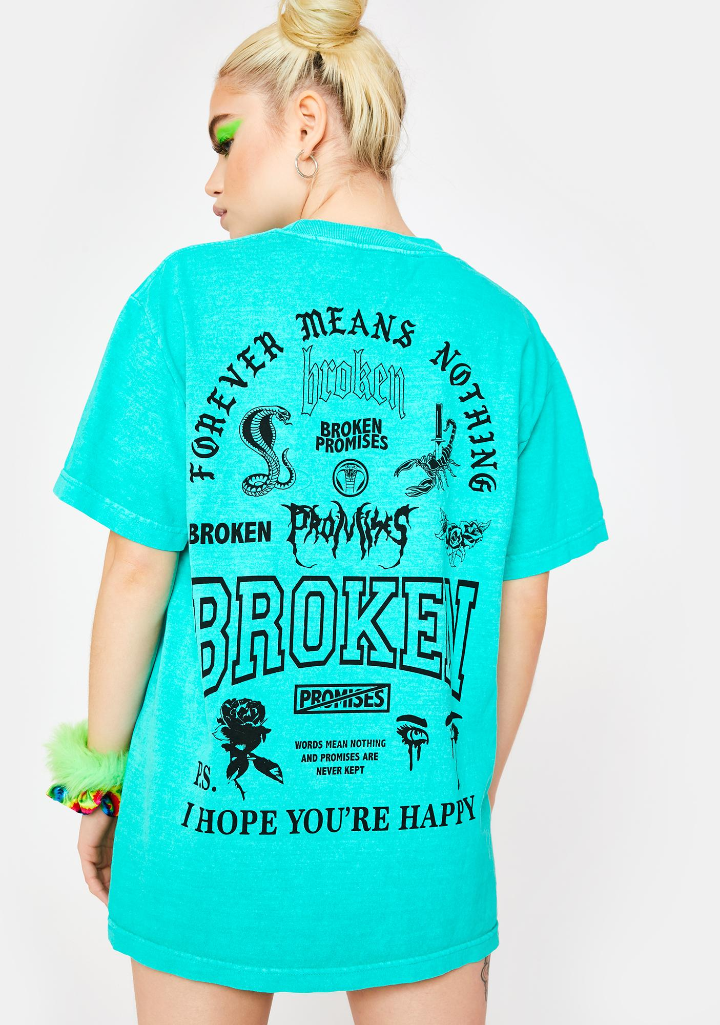 BROKEN PROMISES CO Green Greatest Hits Graphic Tee