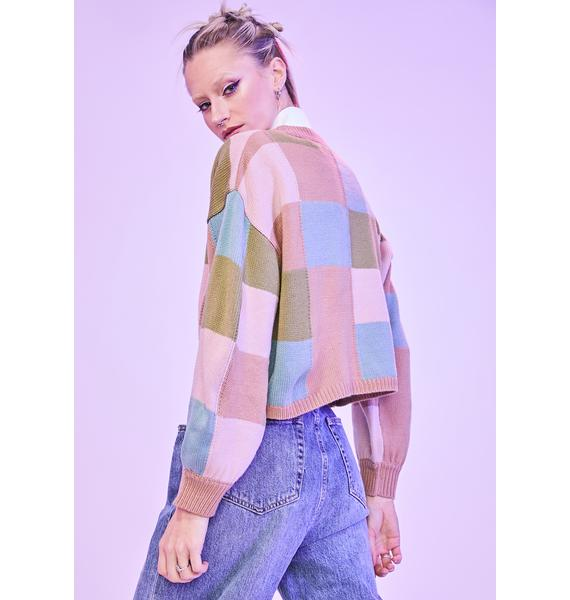 Taupe Extra Sweet Colorblock Sweater