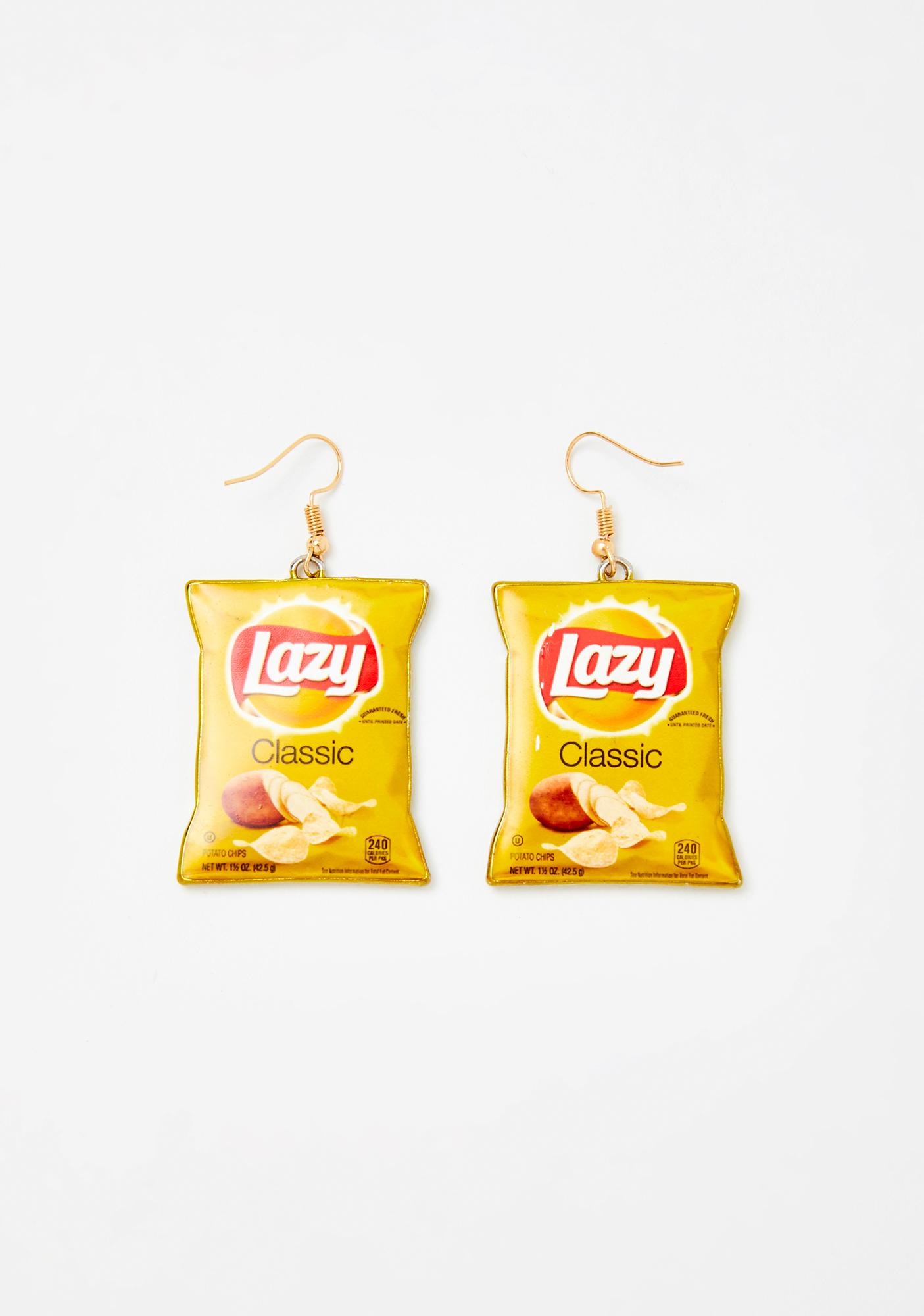 Couch Potato Chip Bag Earrings