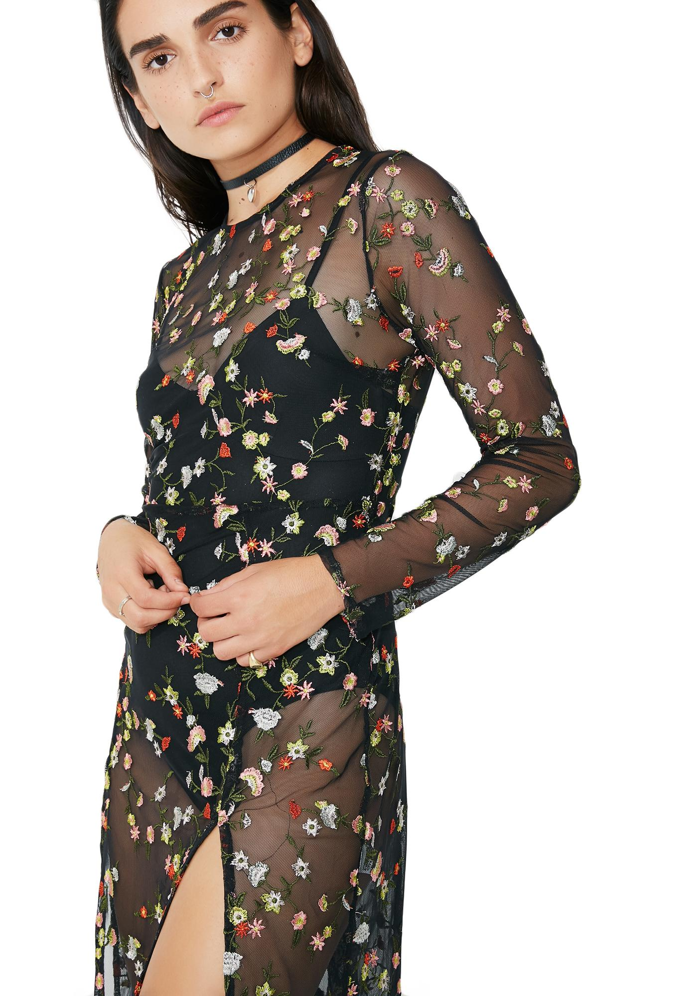 Botanical Beauty Sheer Dress