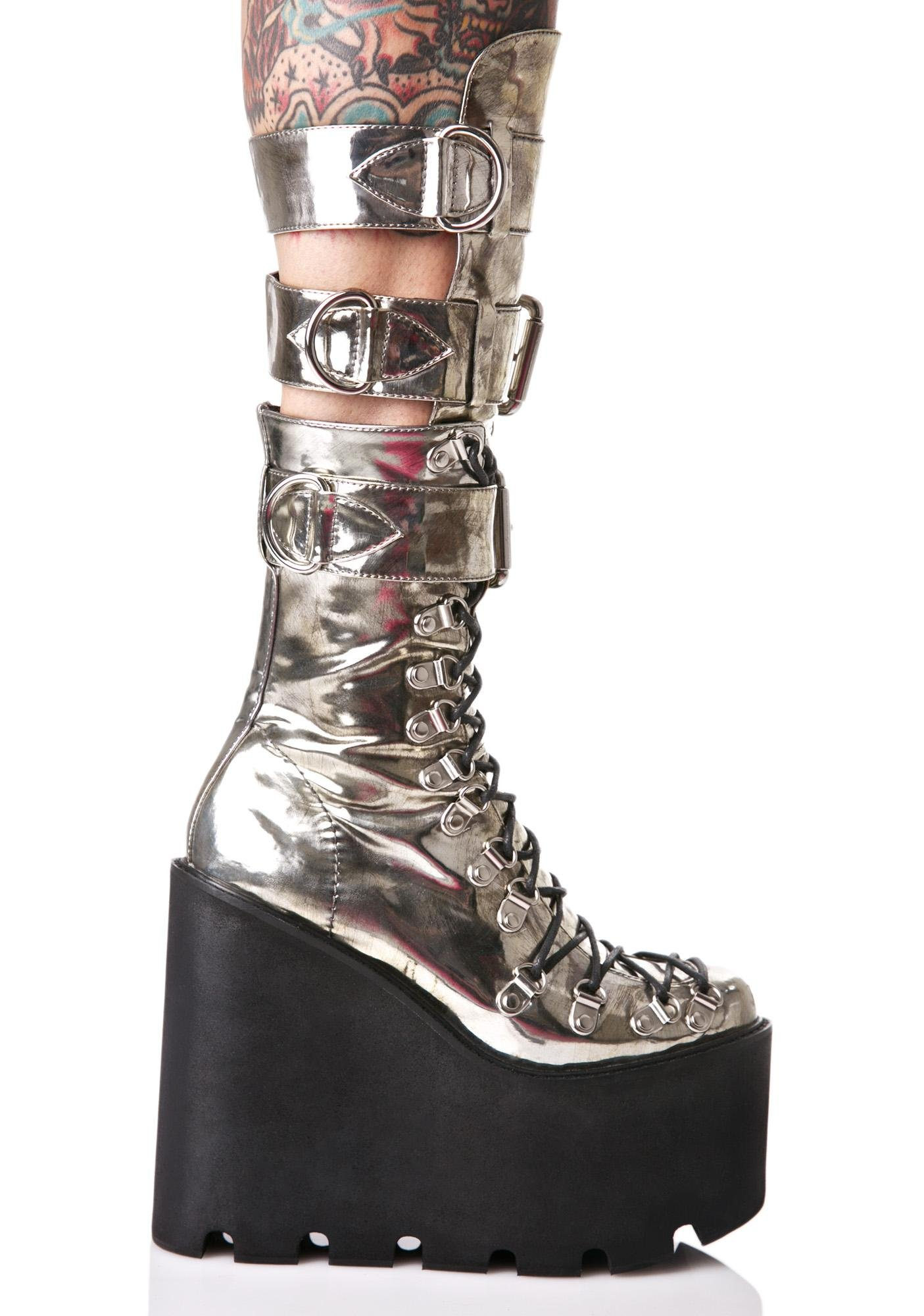 Current Mood Metallic Guardian Boots