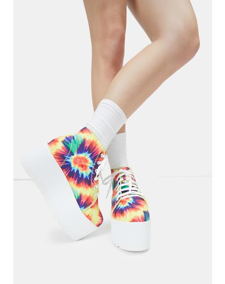 Barletta Tie Dye Platform Sneakers