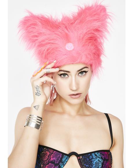 Bubblegum Yeti Hat