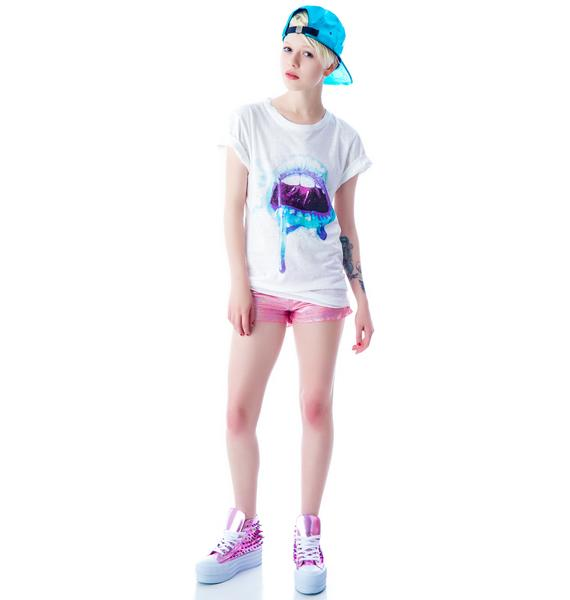 Evil Twin Kiss Relaxed High Low Tee