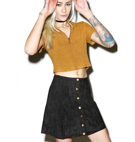 Can't Stop Button Up Skirt