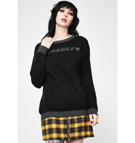 Fearless Illustration Delicate Knit Sweater
