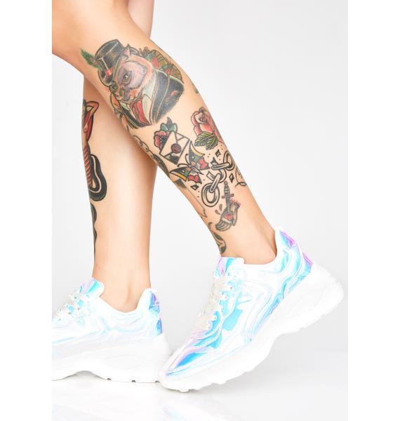 Pure Cybergoth Platform Sneakers