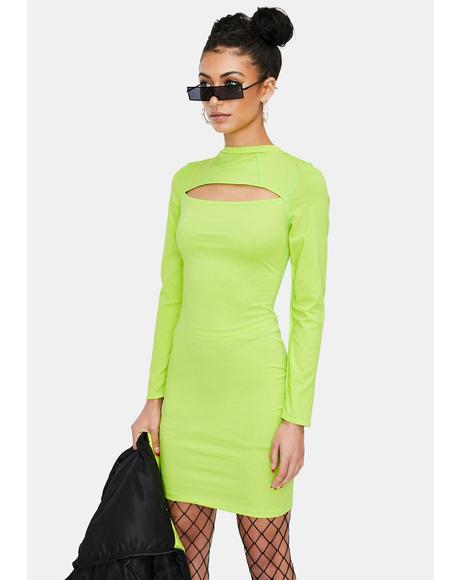 Alien BB Long Sleeve Bodycon Dress