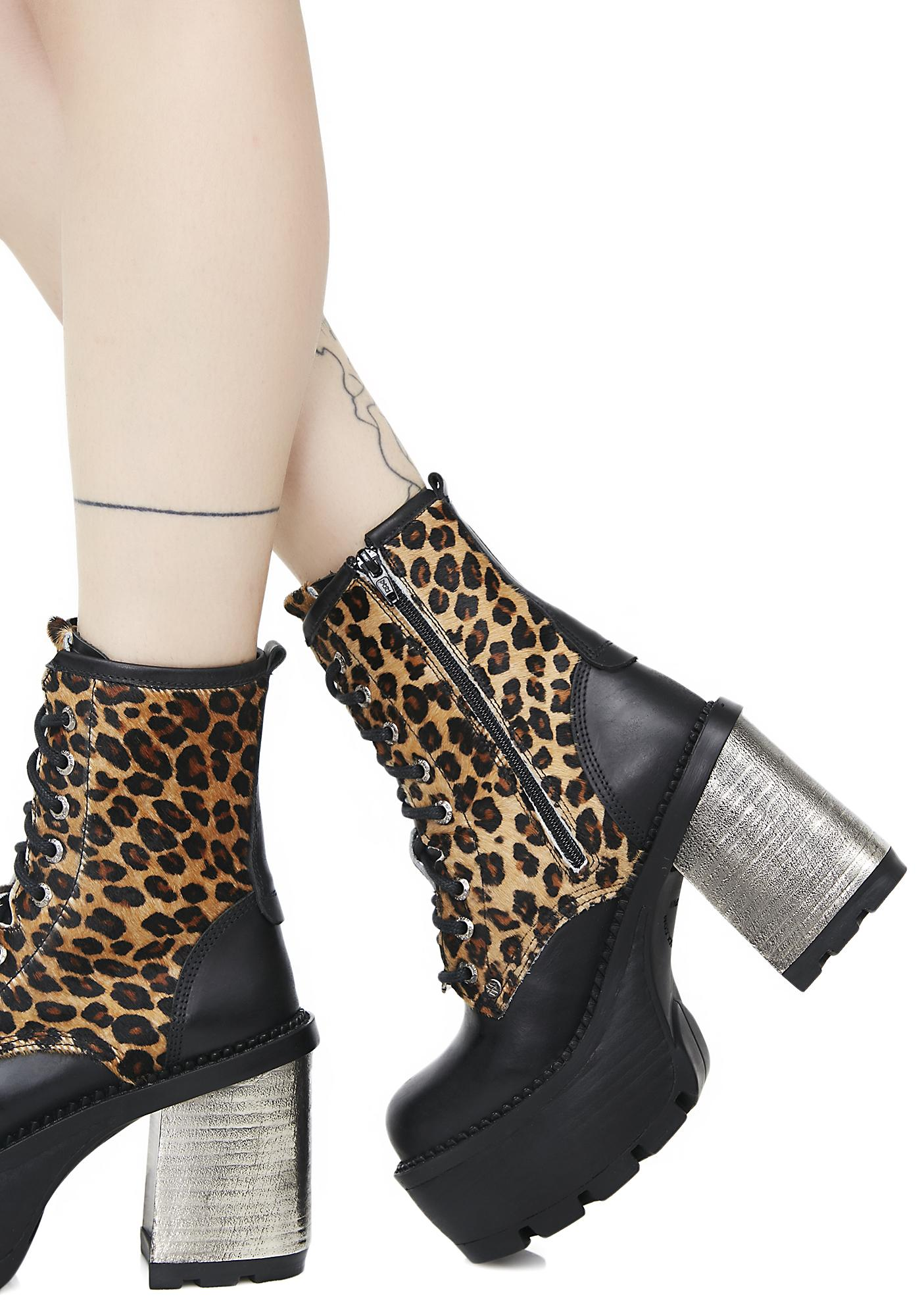 New Rock Claws Out Lace-Up Boots