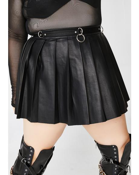Ace Of Spade Pleated Skirt