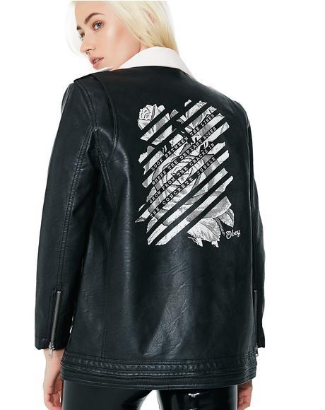 Defiant Rose Moto Jacket