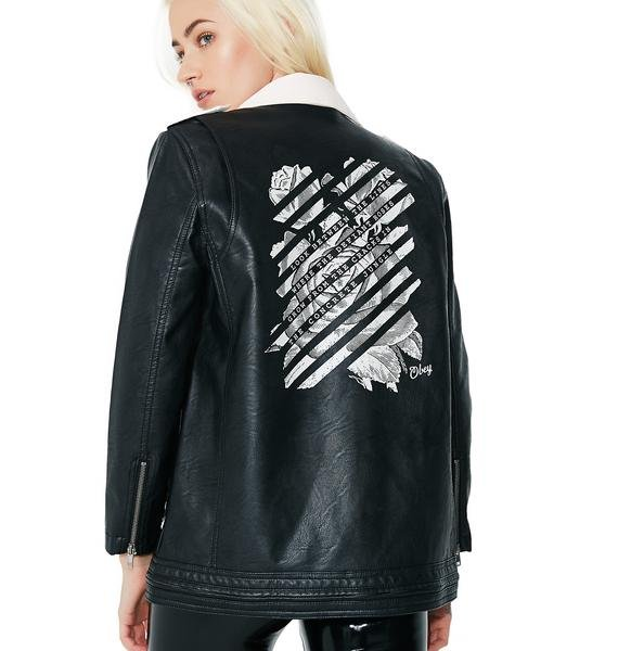 Obey Defiant Rose Moto Jacket