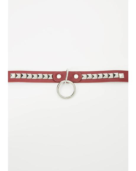 Bloody Pain Game O-Ring Choker