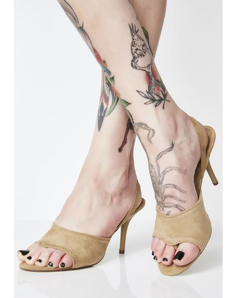 Tan Pull The Receipts Slingback Heels