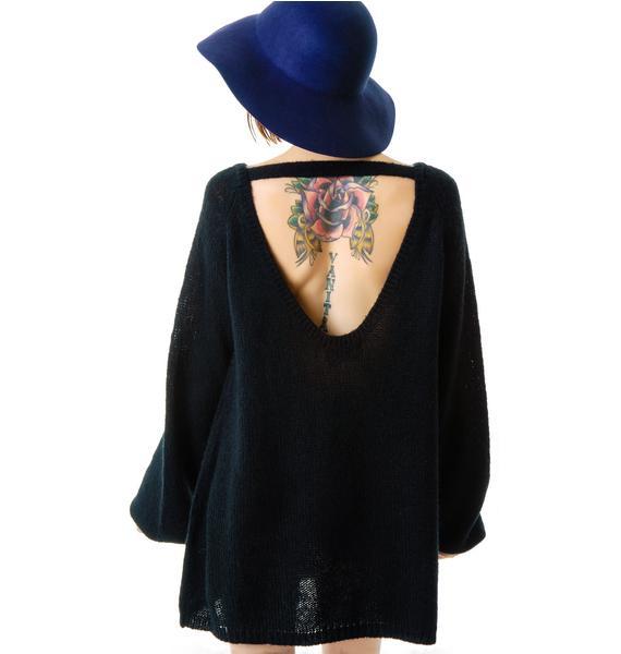 Wildfox Couture Psychodelic Lips CA Dream Sweater