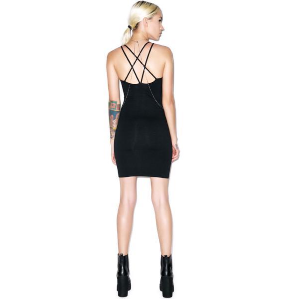 Motel Silka Cross Back Bodycon Dress