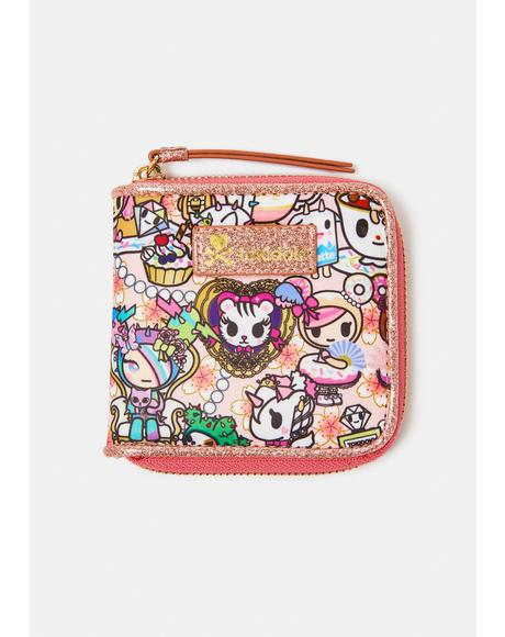 Kawaii Confections Zip Around Wallet