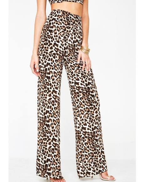 Cheetah Sistasss Wide Leg Pants