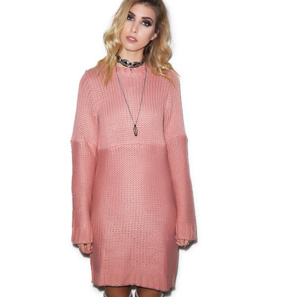 For Love & Lemons Bishop Sleeve Sweater