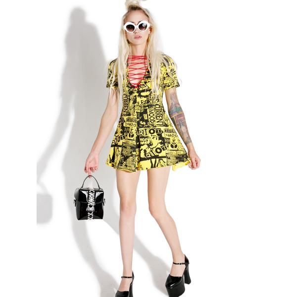Current Mood Headliner Lace-Up Dress