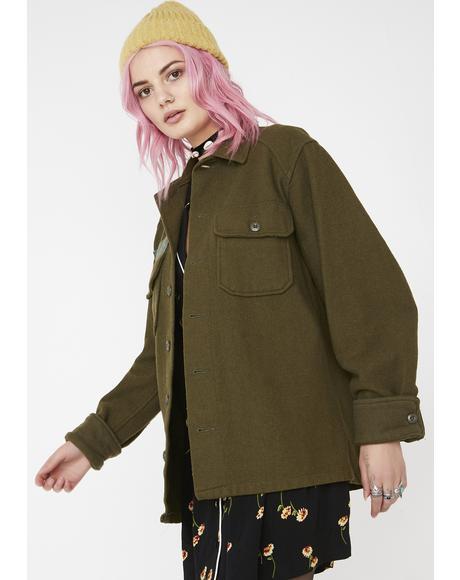 Vintage Army Surplus Wool Jacket