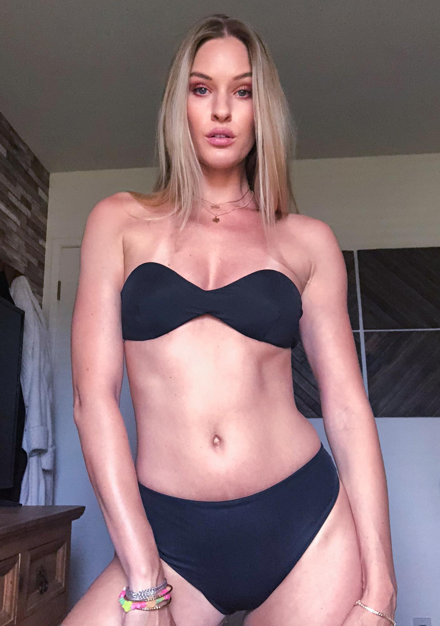 Siempre Golden Capricorn Strapless Bikini Top