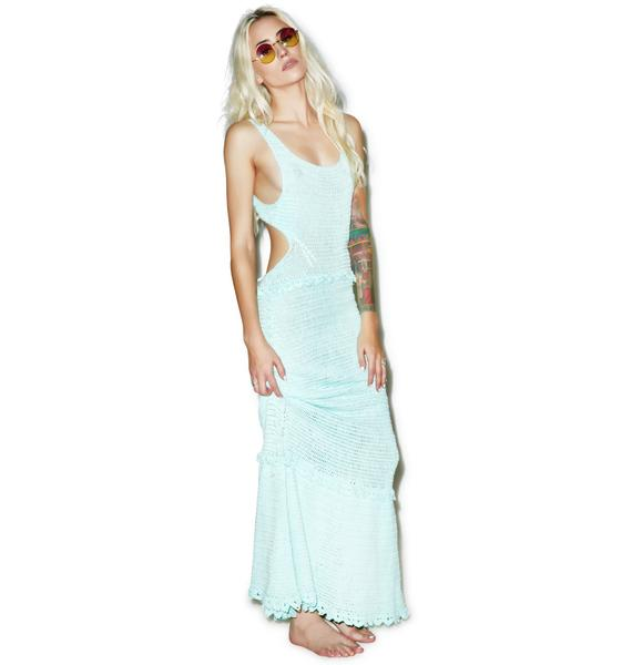 Somedays Lovin Ocean Child Crochet Maxi Beach Dress