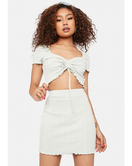 Can't Let Go Knit Mini Skirt