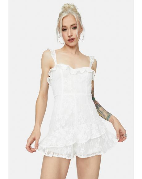 Another Day Of Sun Lace Romper