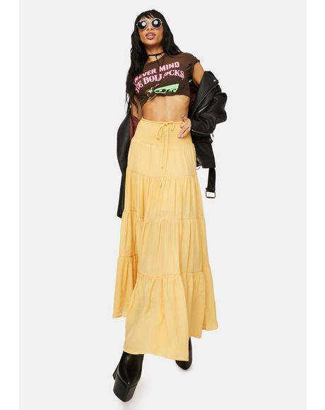 Amber Take It Easy Smocked Maxi Skirt