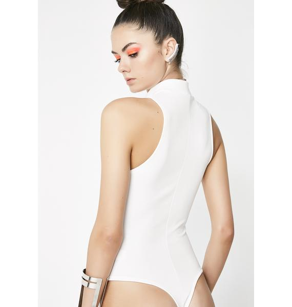 Ivory Try Again Zipper Bodysuit