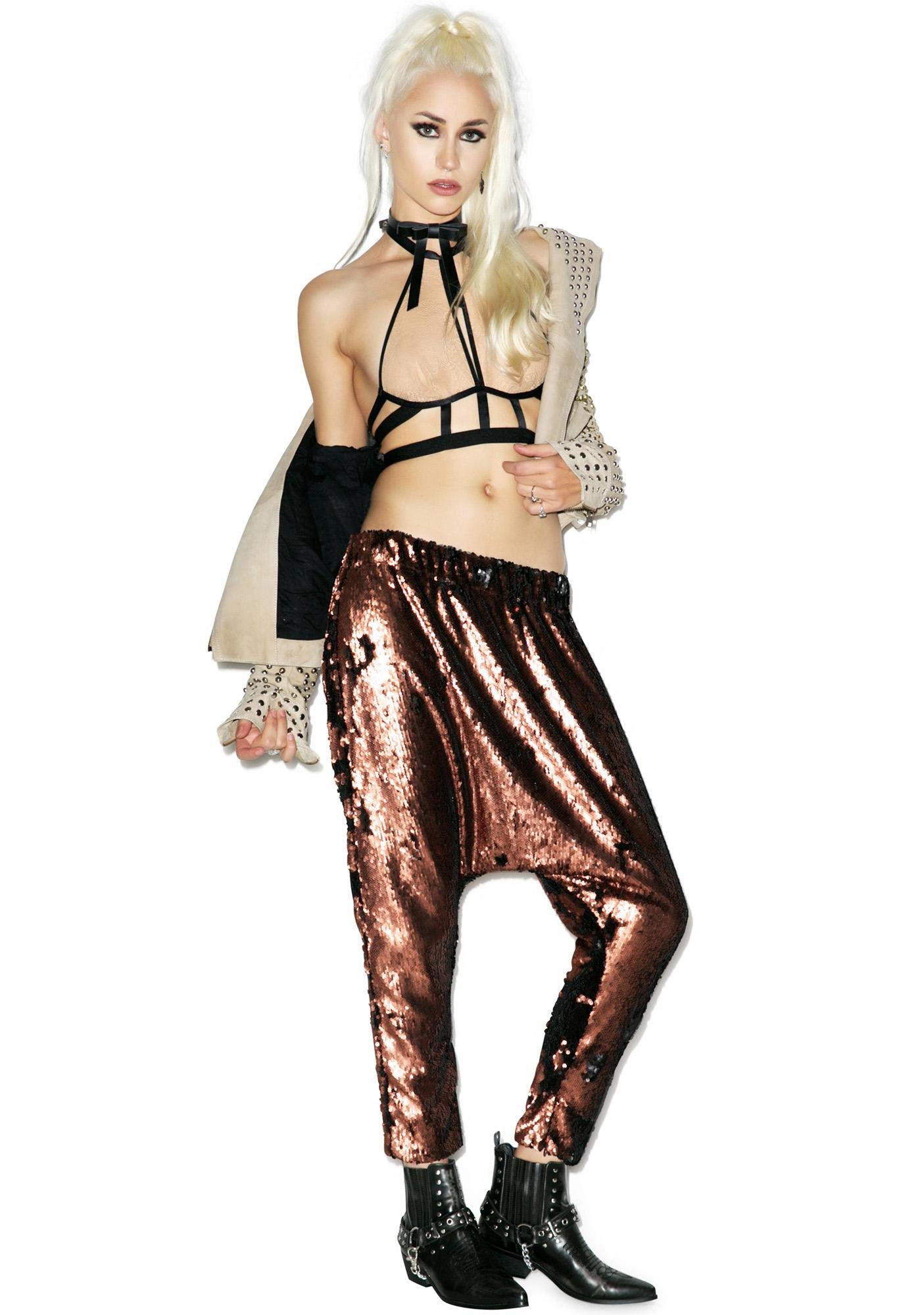 One Teaspoon Sahara Shimmer Sequin Harem Pants