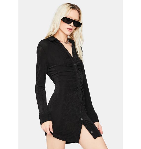 Night Light The Dark Long Sleeve Mini Dress