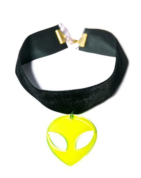 Velvet Alien Choker
