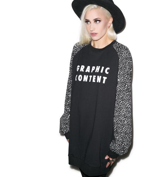 Lazy Oaf Graphic Content Sweatshirt