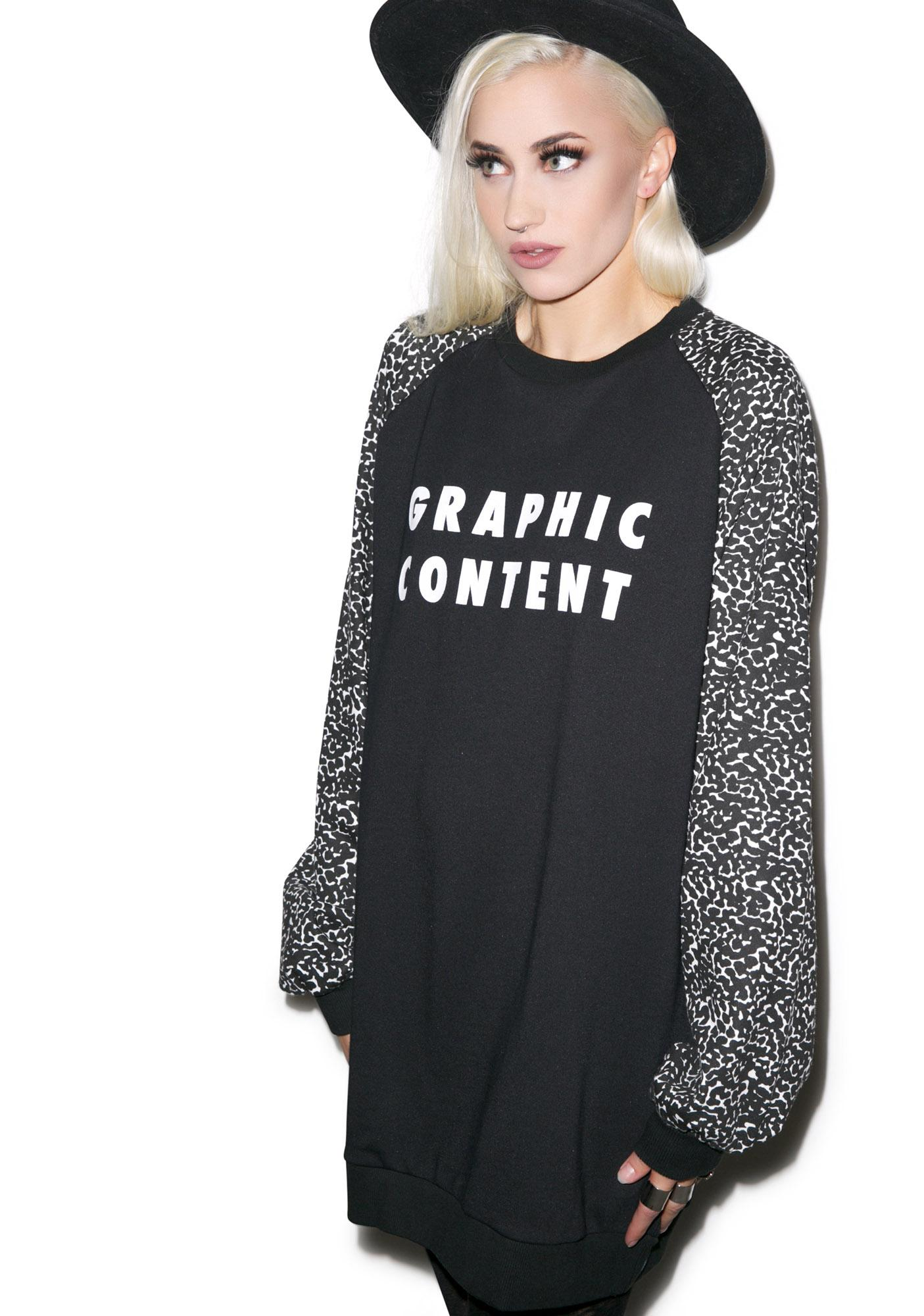 Lazy Oaf Graphic Content Sweatshirt