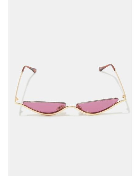 Dixie Gold Burgundy Sunglasses