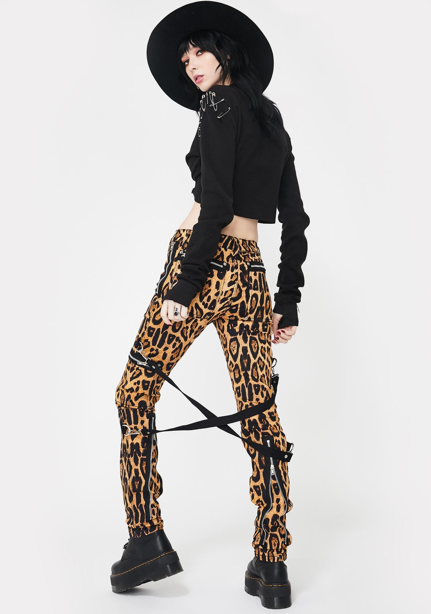 Tripp NYC Leopard Chaos Bondage Pants