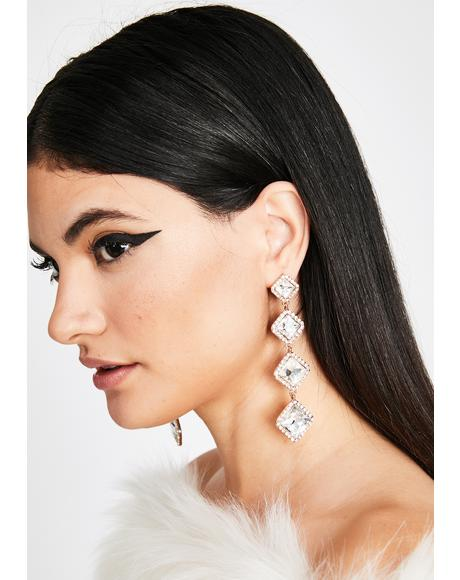 You're Invited Rhinestone Earrings
