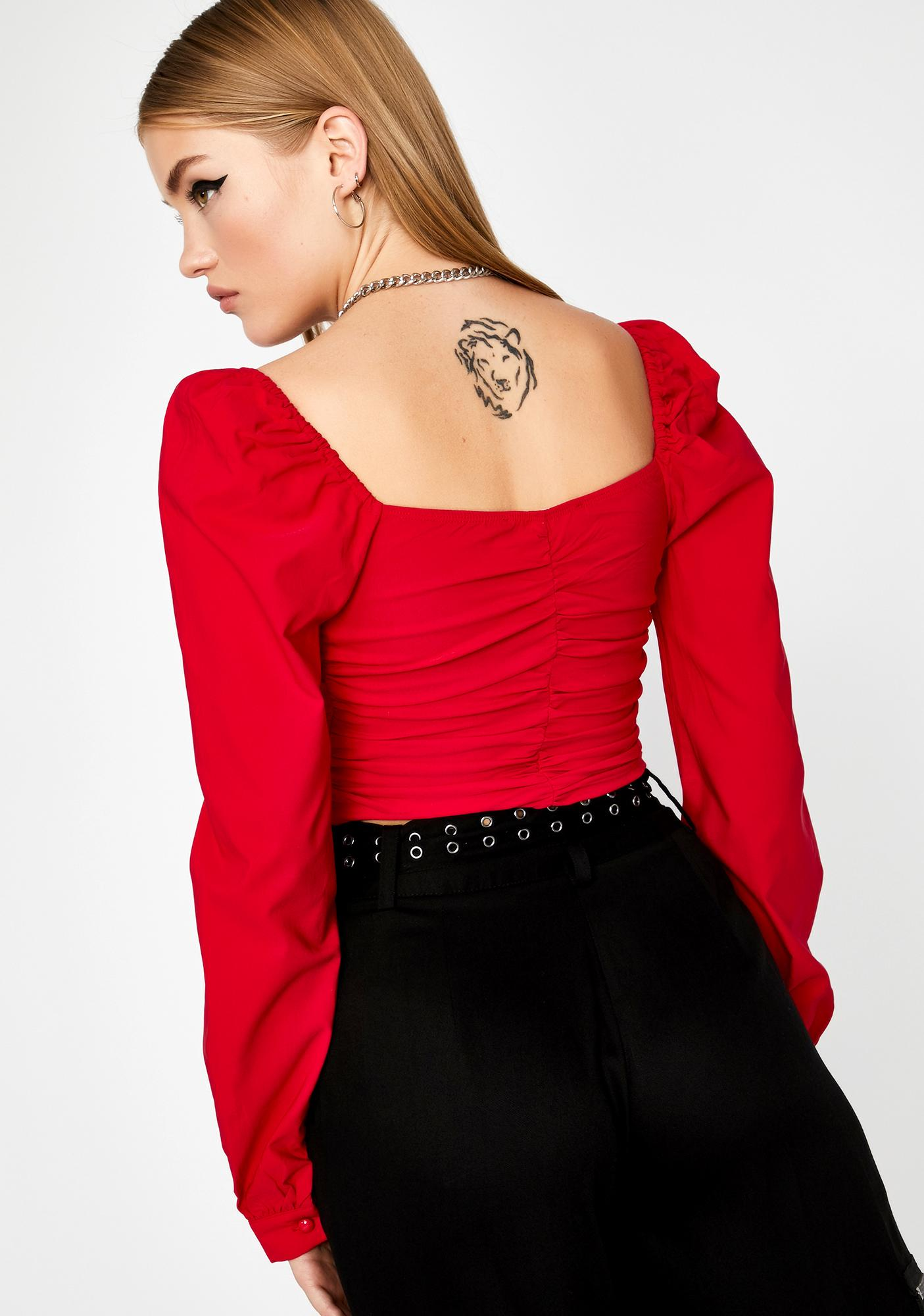 Spicy Afflicted Affair Lace Up Top