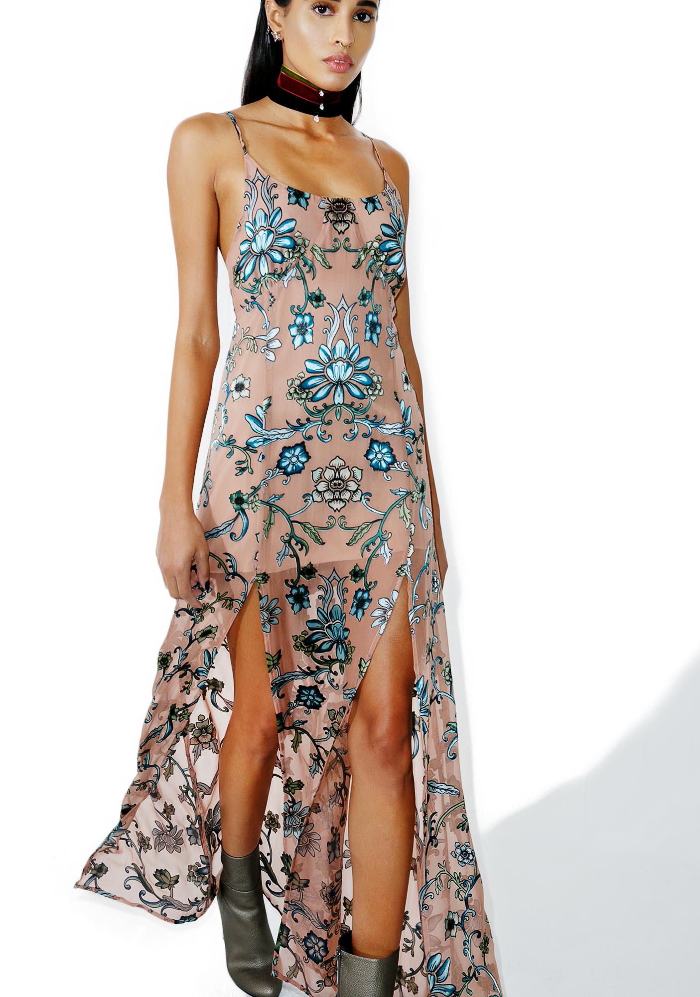 For Love & Lemons Saffron Sleeveless Maxi Dress