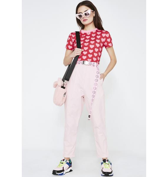 Lazy Oaf LO Pink Peggy Trousers