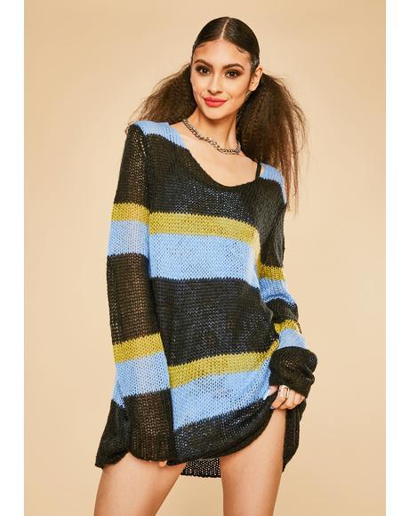 Pretty As A Picture Striped Sweater