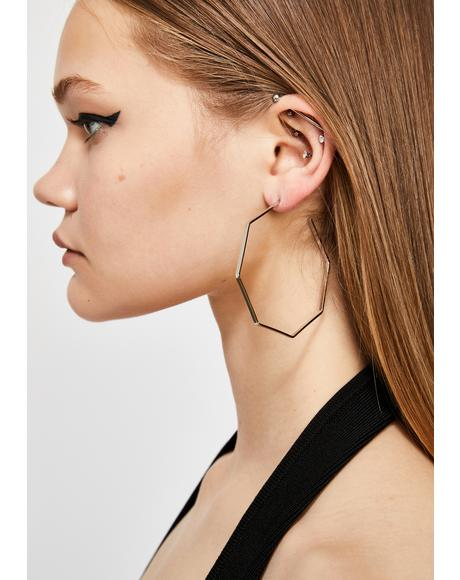 Shape Of U Hoop Earrings