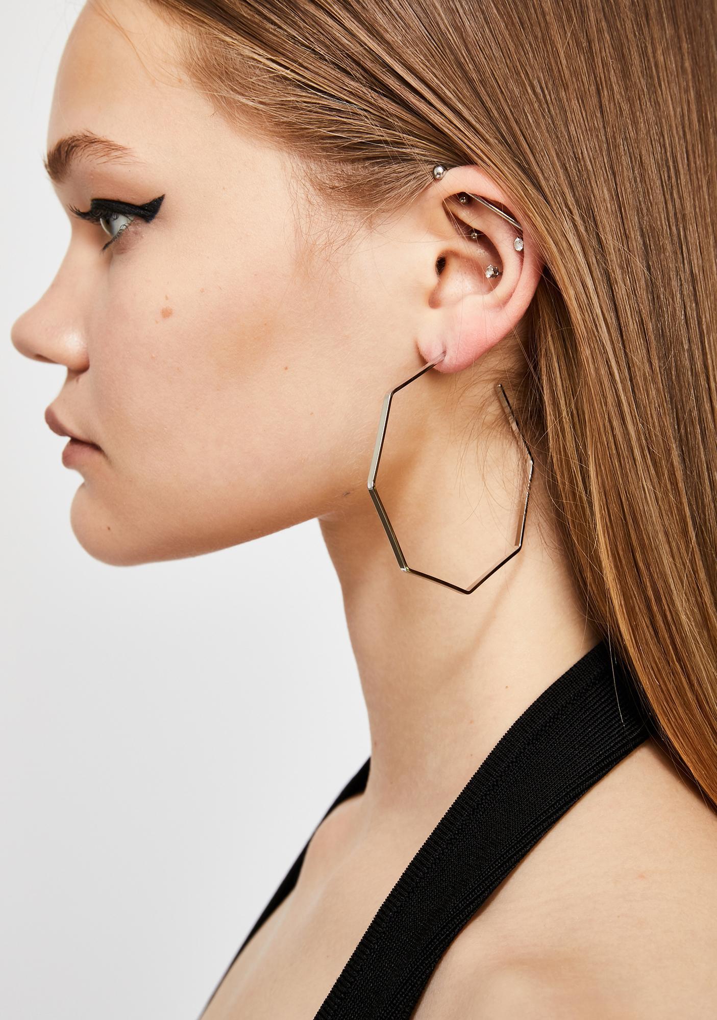 Shape Of U Hoop Earrings